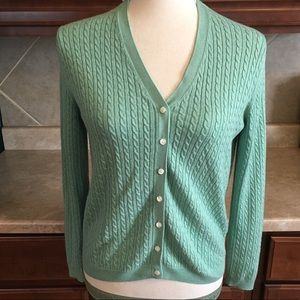 Brooks Brothers Cardigan Silk/Cashmere